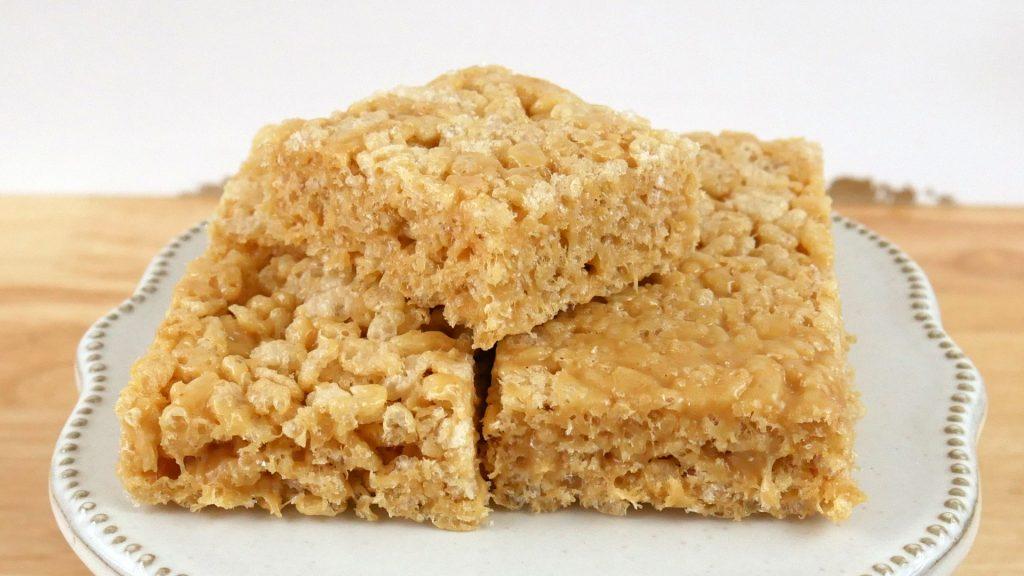 Rice Krispy Treats de Manteiga de Amendoim