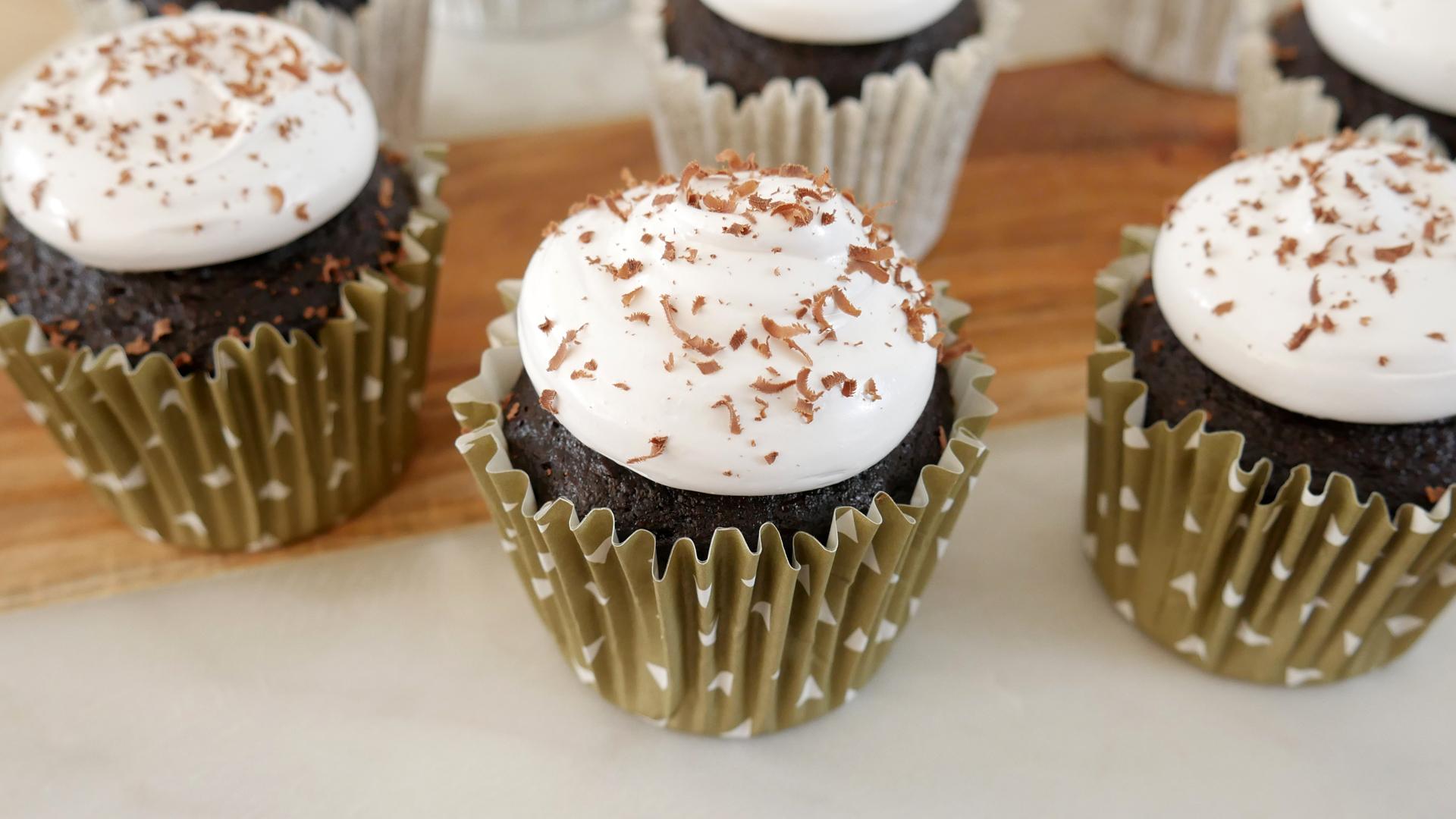 Cupcakes de Chocolate Quente