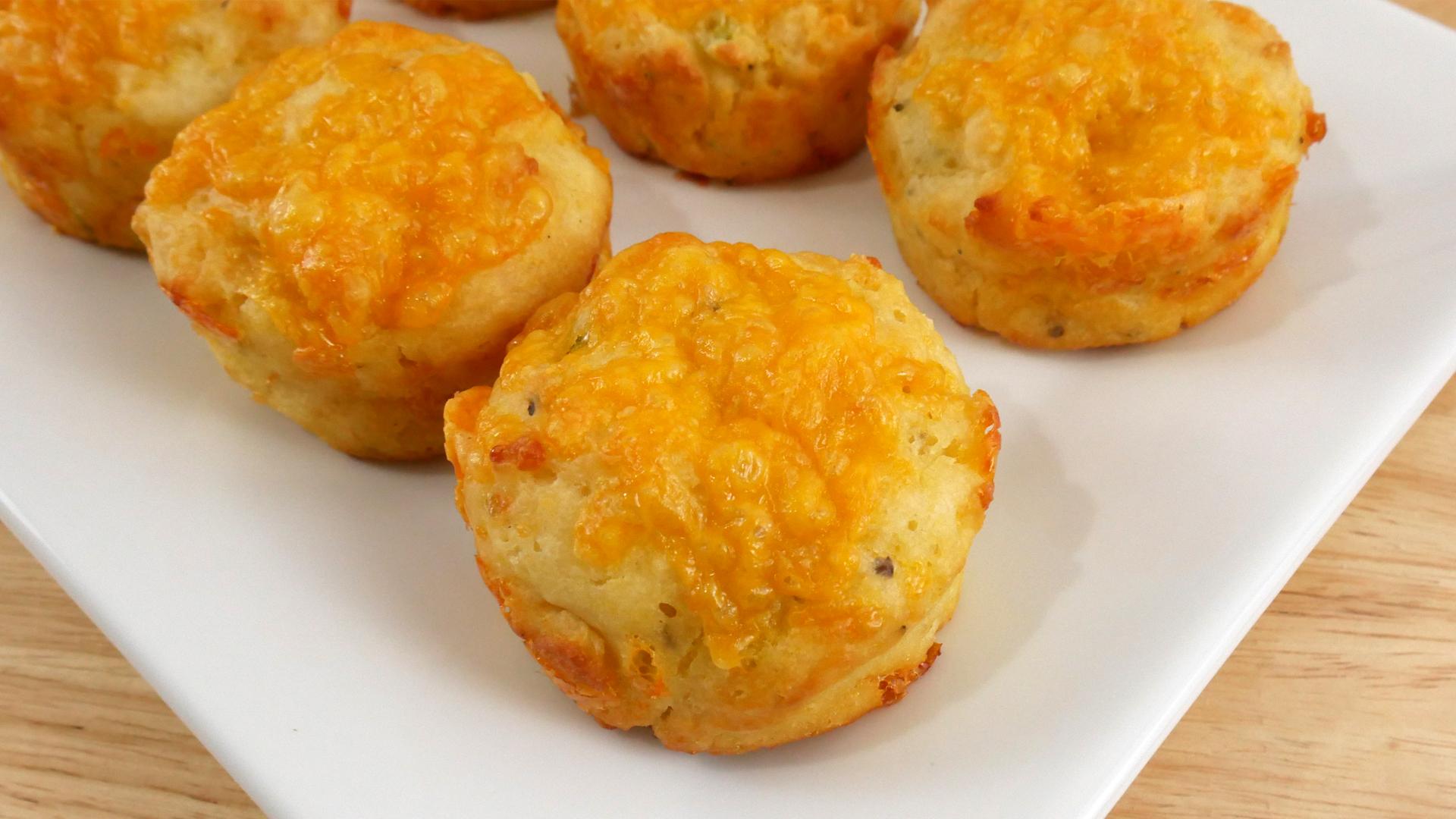 Muffins de Cheddar