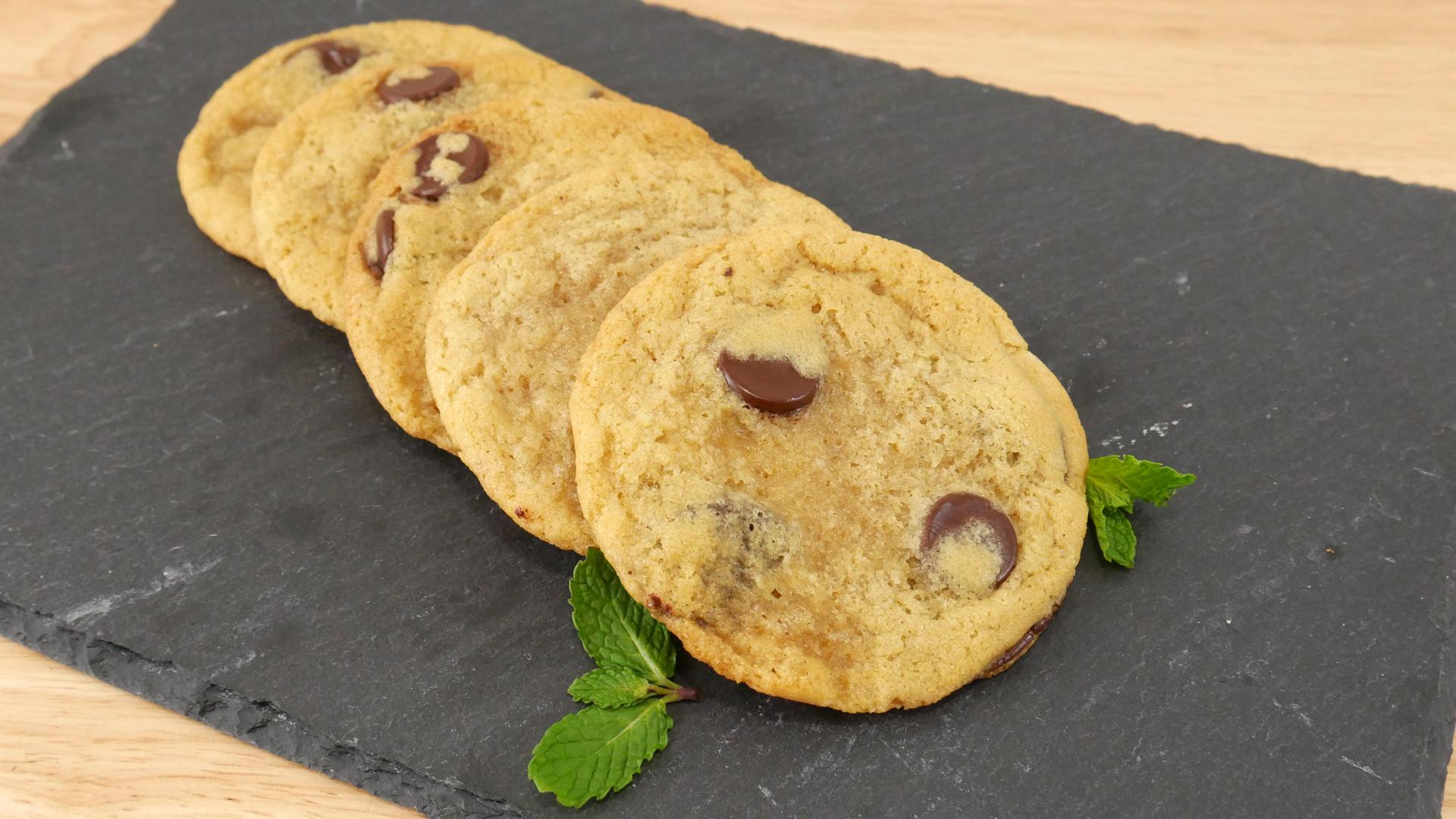 Cookies de Chocolate com Hortelã