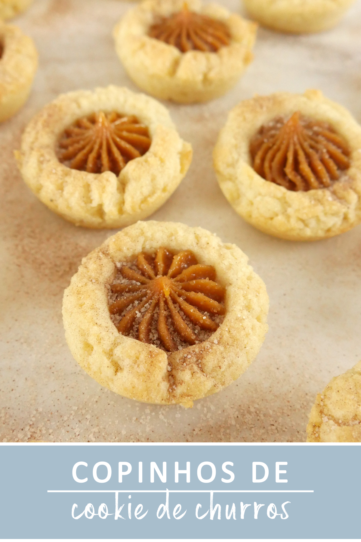 Copinhos de Cookie de Churros