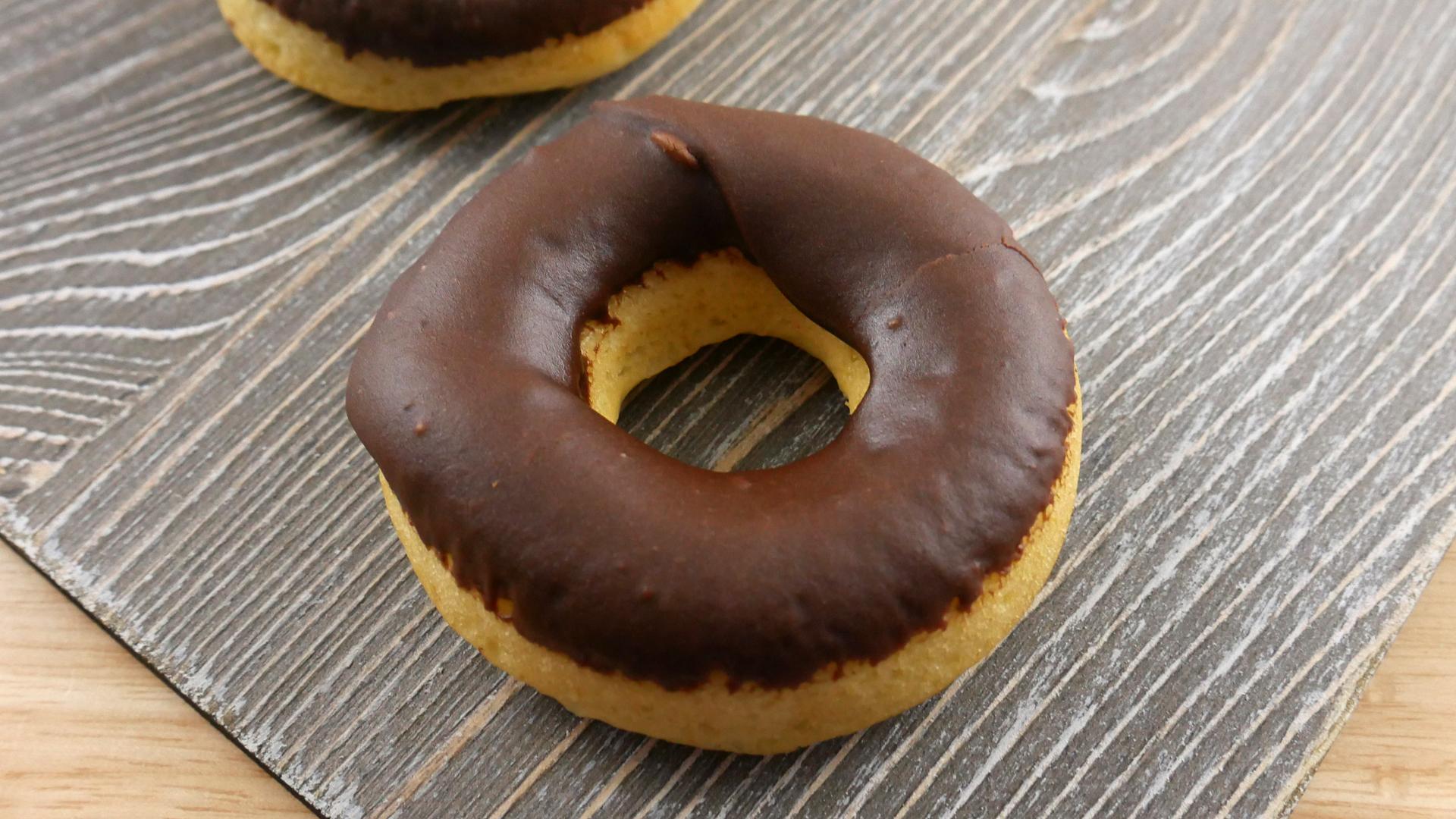 Donut Assado com Cobertura de Chocolate