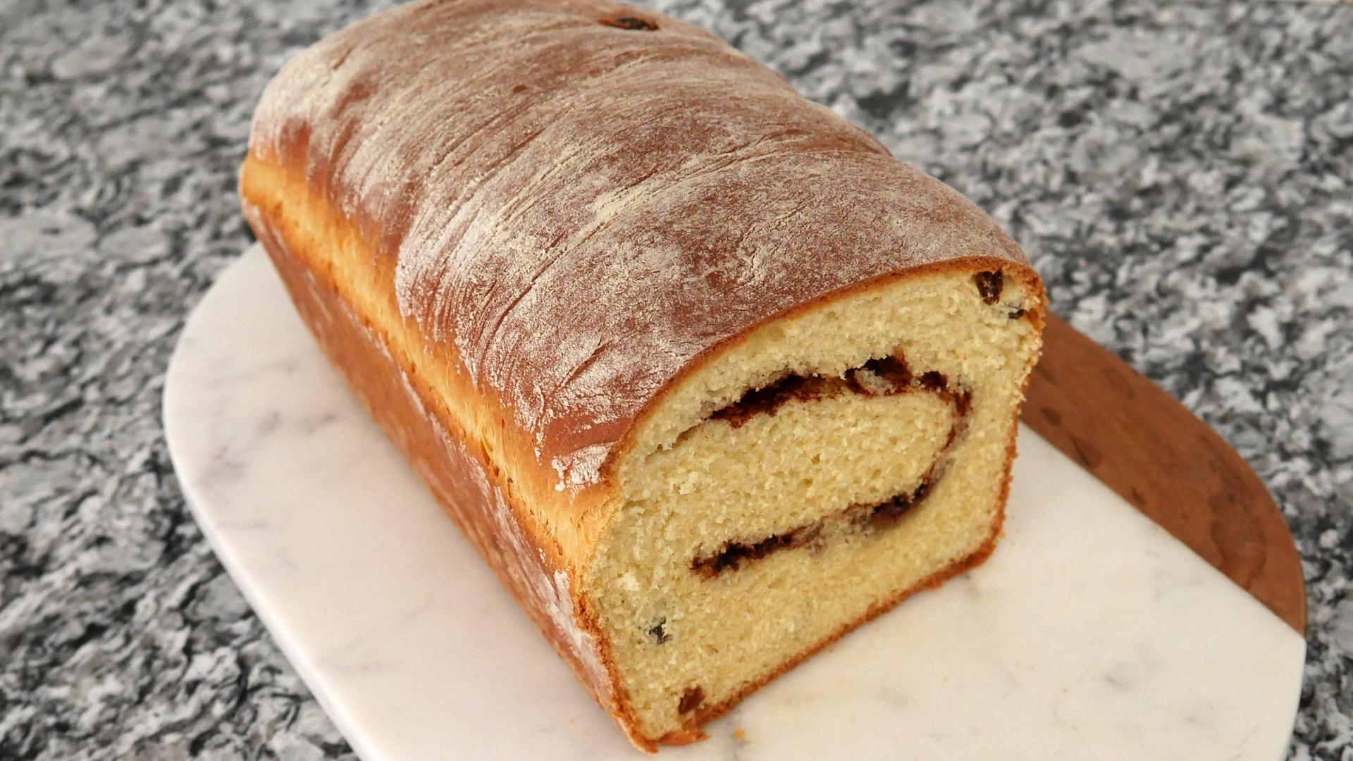 Pão de Canela e Uva Passa