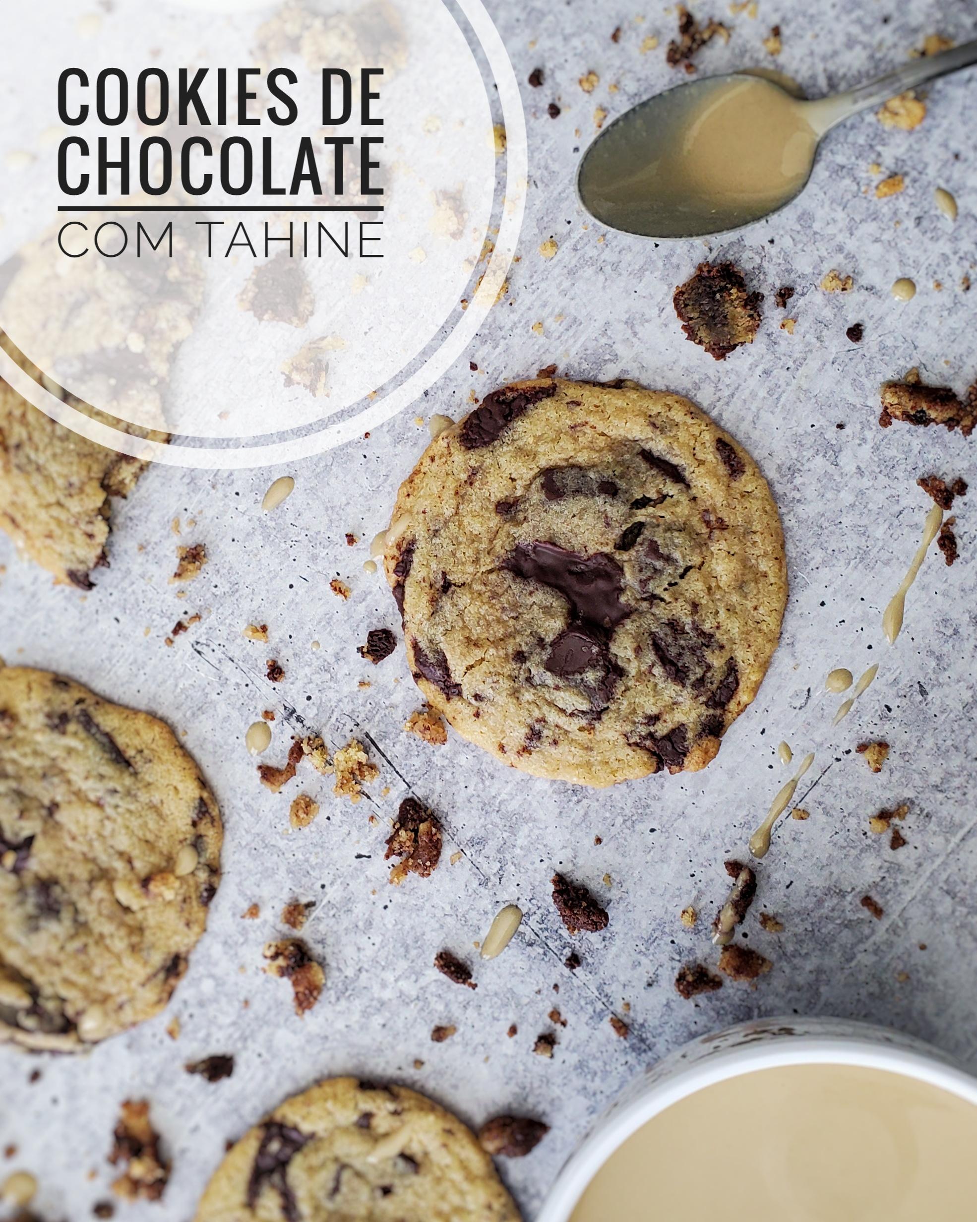 Cookies de Chocolate com Tahine