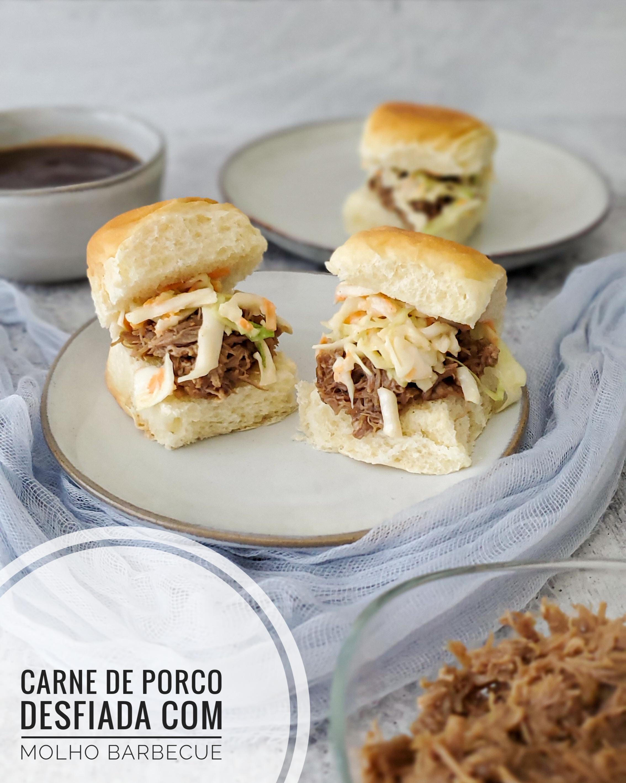 Carne de Porco Desfiada com Molho Barbecue