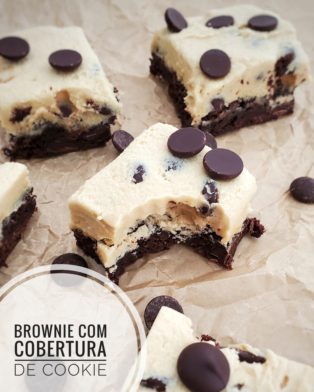 Brownie com Cobertura de Cookie