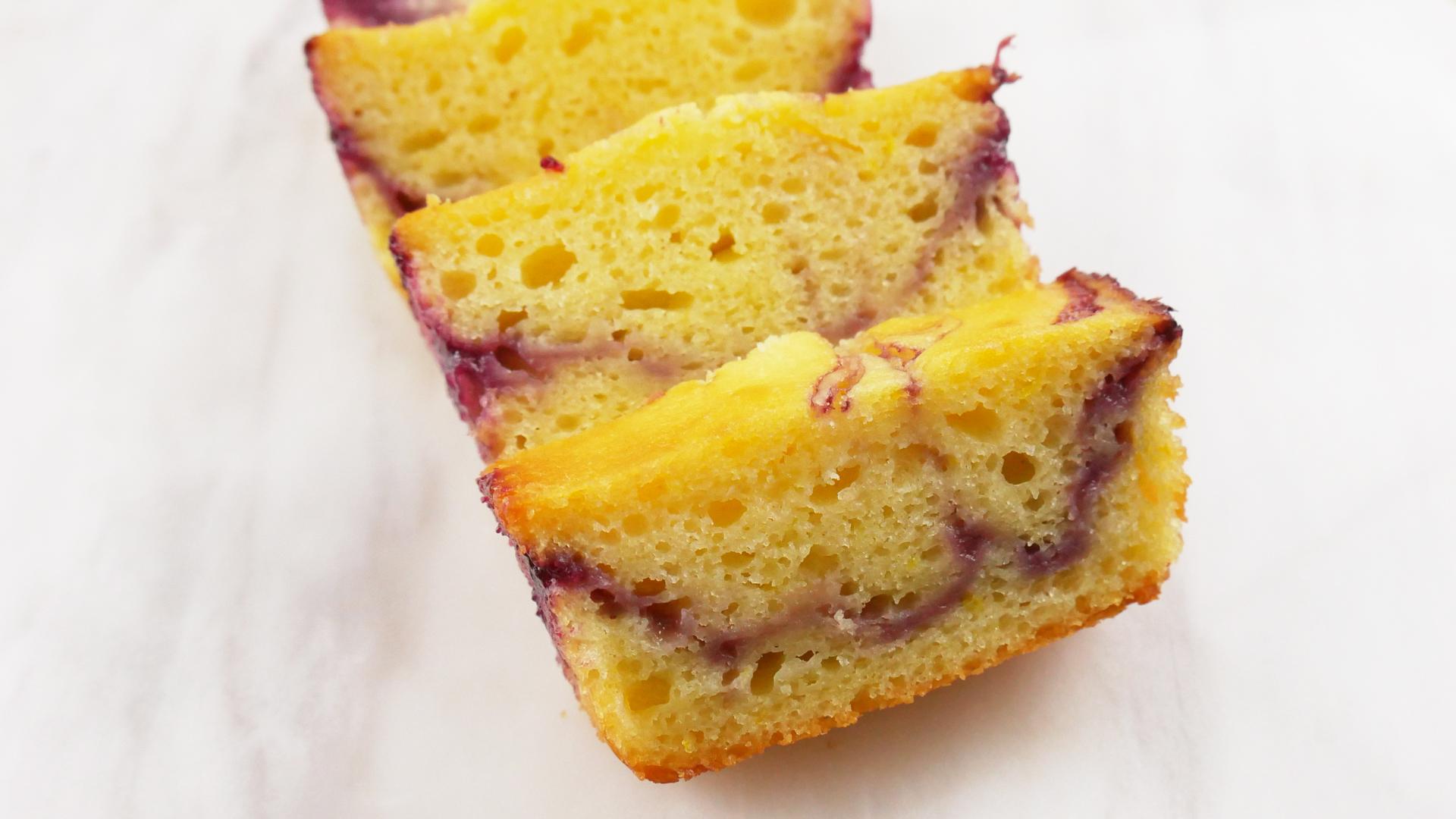 Pound Cake de Limão com Amora