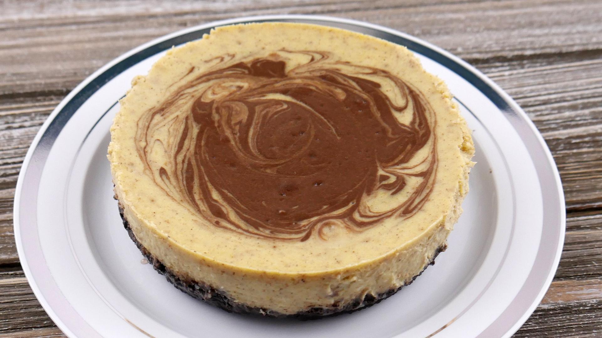 Cheesecake de Abóbora e Chocolate